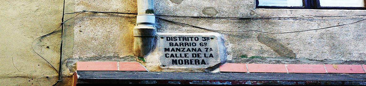 Vista de la antigüa calle Morera de Barcelona.
